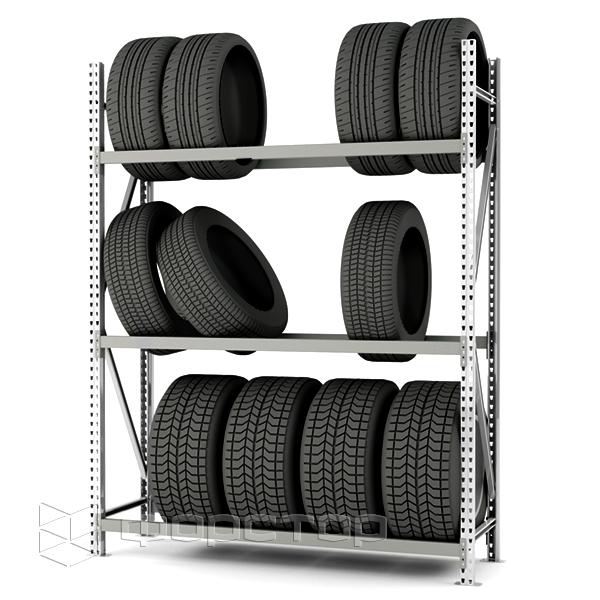 Стеллажи для шин, дисков, колес в сборе — производство Форстор Индастри,  купить стеллажи для покрышек по заводской цене
